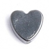 Magnetic Flat Heart 8X8mm 16in Strand Hematite